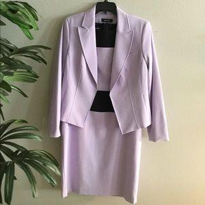 Lavender/black dress w/ coat